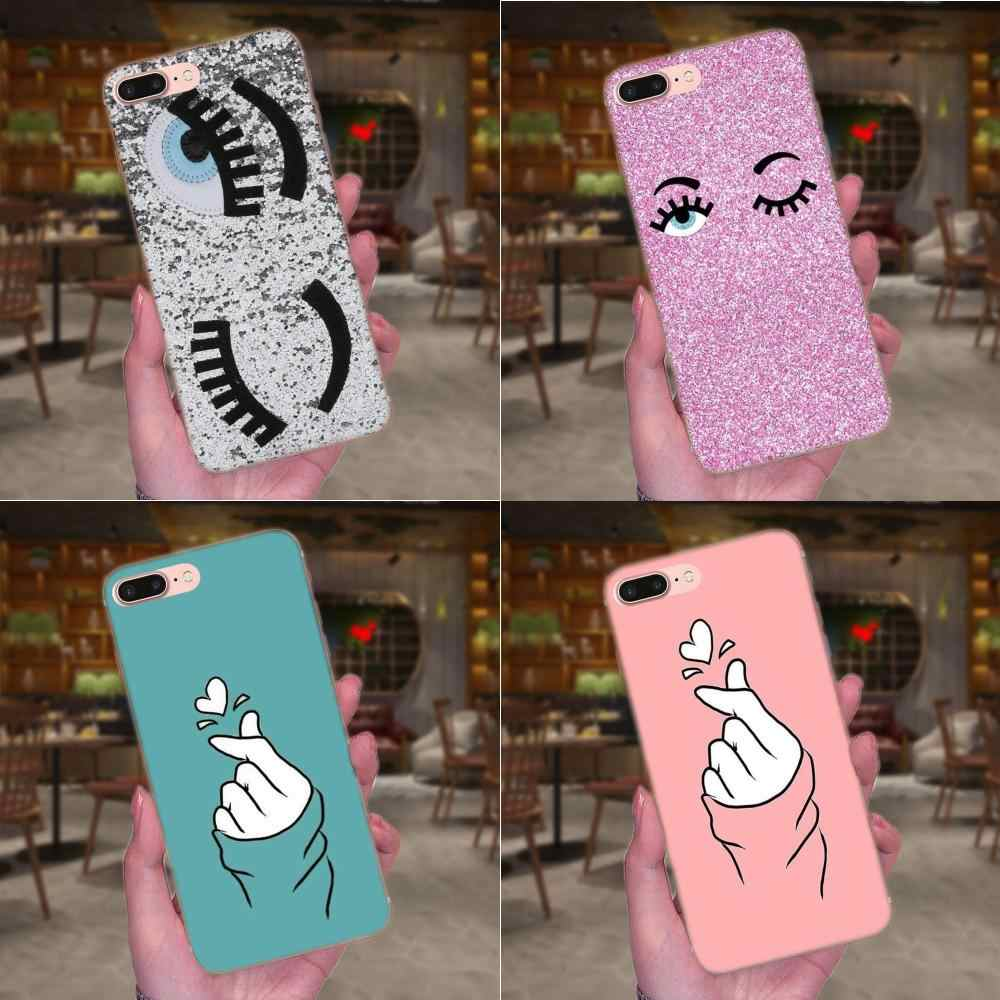 Fashion Chiara Ferragni Eyes For Apple iPhone 4 4S 5 5C 5S SE 6 6S 7 8 Plus X XS Max XR Cell Case