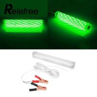 Relefree LED Green Fishing Lamp Indicator Flash Bait Lights Squid Hook 5M Wire Cable