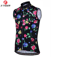 X Tiger 2017 Pro 100 Polyester Bicycle Clothing Sleeveless Cycling Vest 2017 MTB Bike Jerseys Ciclismo