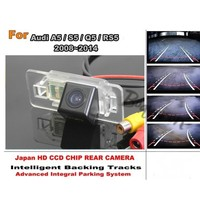 For Audi A5 S5 Q5 RS5 2008 ~ 2014 Car Intelligent Parking Tracks Camera / HD CCD Back up Reverse Camera / Rear View Camera