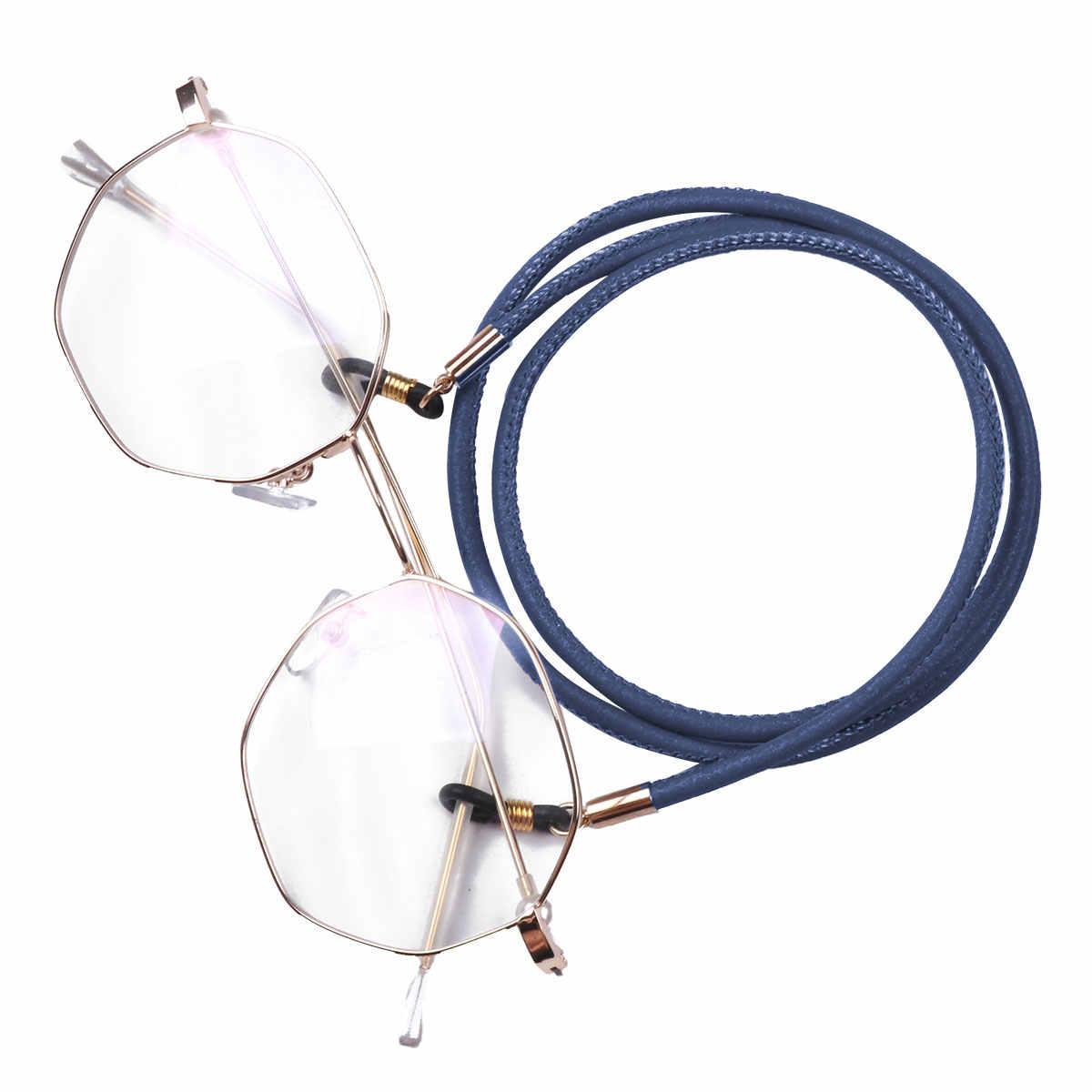 bcce68af1453 ... 4Pcs 4 Color Set Leather Glasses Strap Adjustable Sunglasses Chain  Eyeglasses Rope Eyeglass Lanyard Holder ...