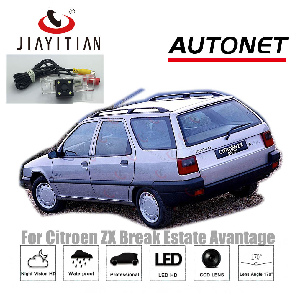 JIAYITIAN Rear Camera For Citroen ZX ZX Break Estate Avantage Night Vision CCD Reverse camera Backup Camera license plate camera