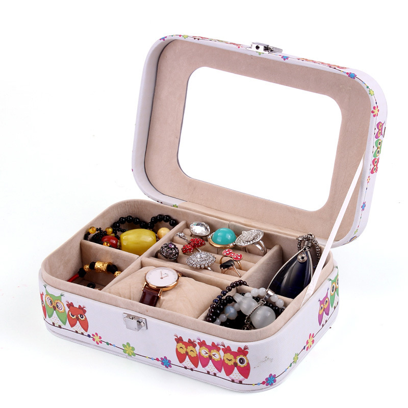 ФОТО Owl Jewelry Boxes Makeup Case Ring Bracelet Jewelry Organizer Carrying Cases Women Jewellery Container Birthday Gifts