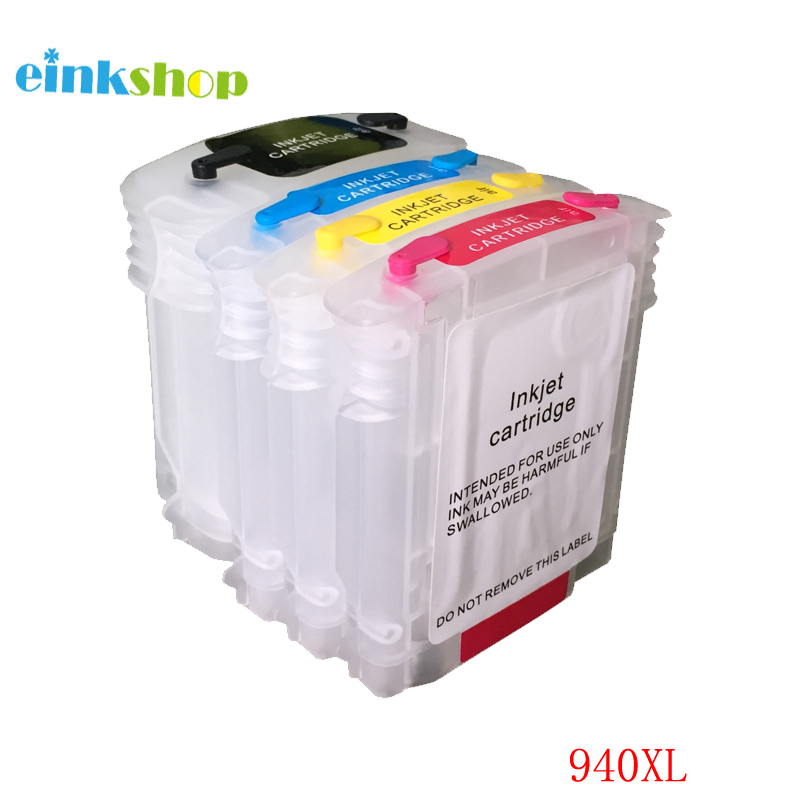 einkshop Brand for hp 940 940xl Empty Refillable Ink Cartridge With Chip Suitable for HP Officejet Pro 8000 8500 8500a Printer bulk ink cartridge for hp 940 cartridge with chip arc chip for hp940 refill ink cartridge for hp 8000 8500 printer ink cartridge