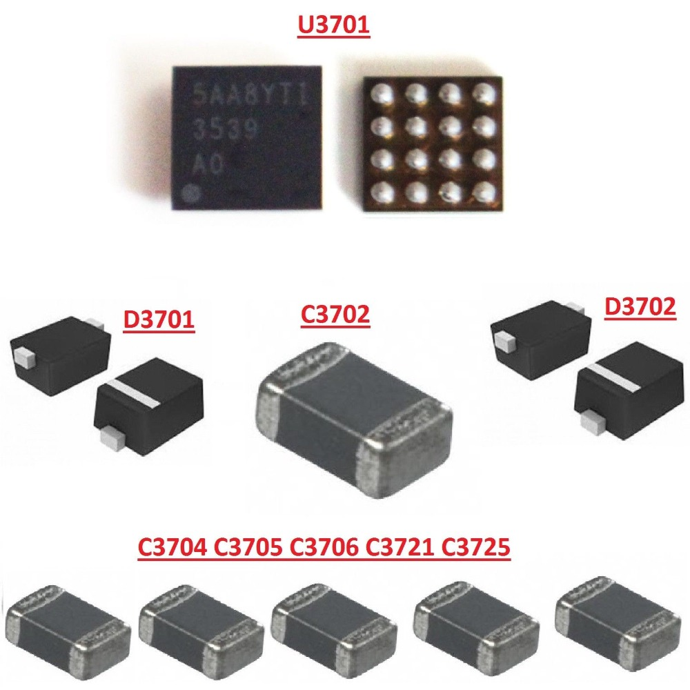 20sets For Iphone 7 Plus Backlight Circuit Repair Kit With Ic Diodes Capacitors U3701 D3701 D3702 C3702 C3725 C3704 In Mobile Phone Circuits From
