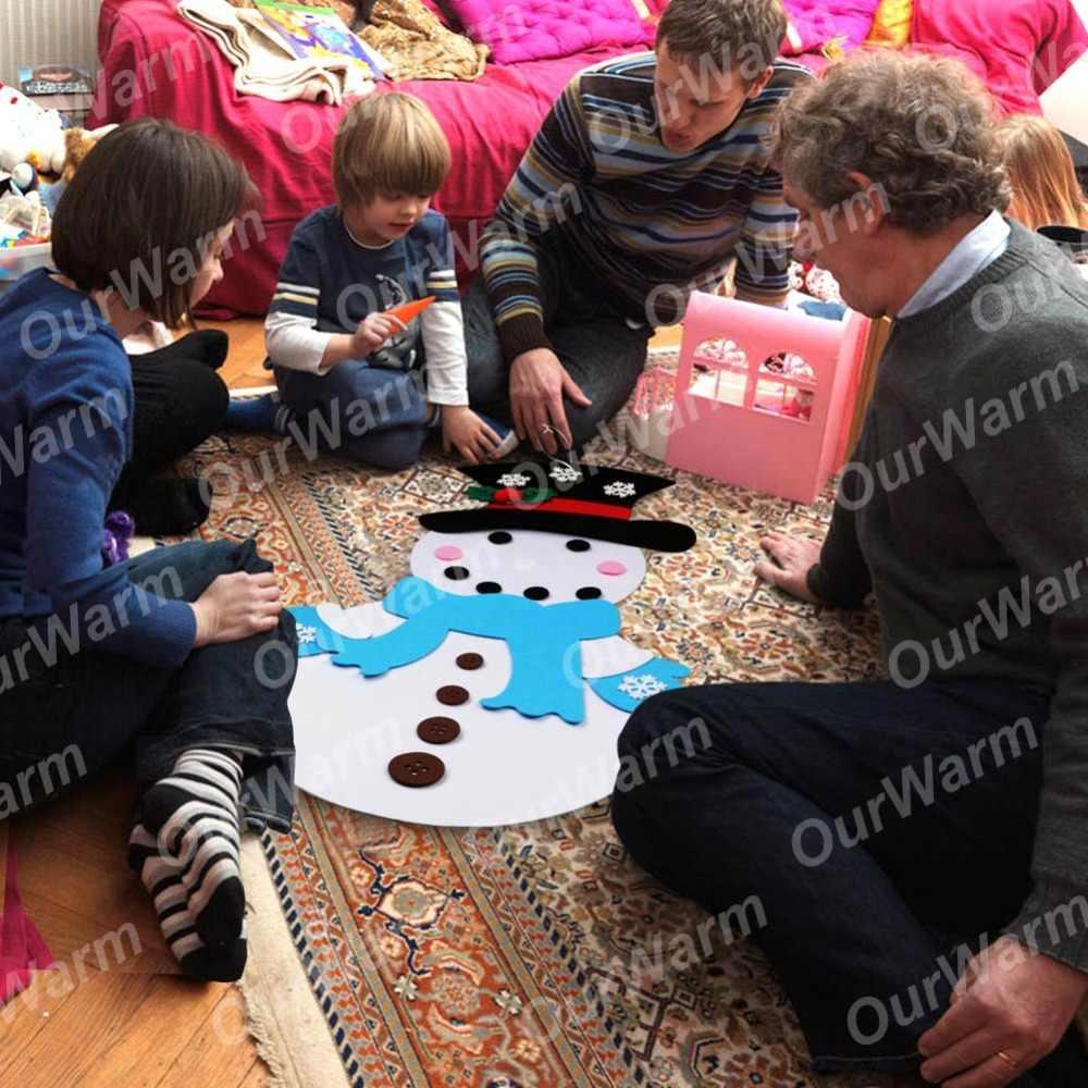 OurWarm חג המולד DIY הרגיש שלג שנה החדשה מתנת ילדי צעצועי עם קישוטי דלת קיר תליית ערכת חג המולד קישוטים לבית