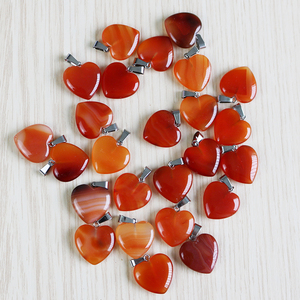 Image 2 - 天然石クリスタルハートペンダント振り子opaliteチャクラヒーチャーム50ピース/ロット卸売ジュエリーメイキングのために