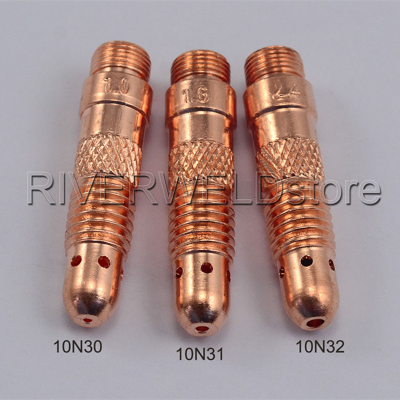 3pcs SR DB PTA WP 17 18 26 TIG Collet Bodies KIT Consumables For TIG Welding Torch Free Shipping