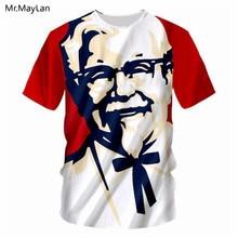 Cool KFC Grandpa Boss 3D Print T shirt Men/Women Hipster Tee Tshirt Boy Hiphop Crewneck White T-shirt Harajuku Big size 7XL