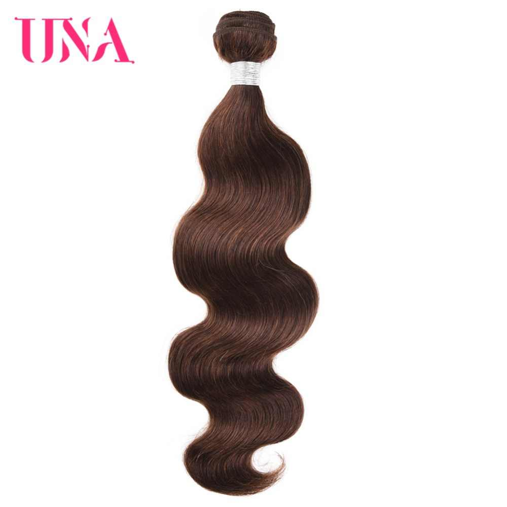 UNA Brazilian Hair Bundles 1 Piece #4 Brazilian Body Wave Remy Hair Weft Human Hair Weave Bundles 12-26 Inches Available