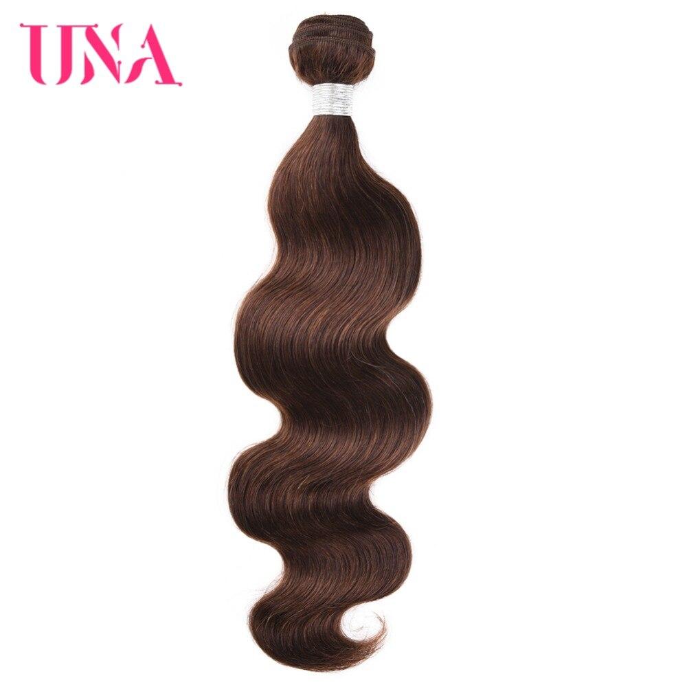 UNA Brazilian Hair Bundles 1 Piece #4 Brazilian Body Wave Non-Remy Hair Weft Human Hair Weave Bundles 12-26 Inches Available