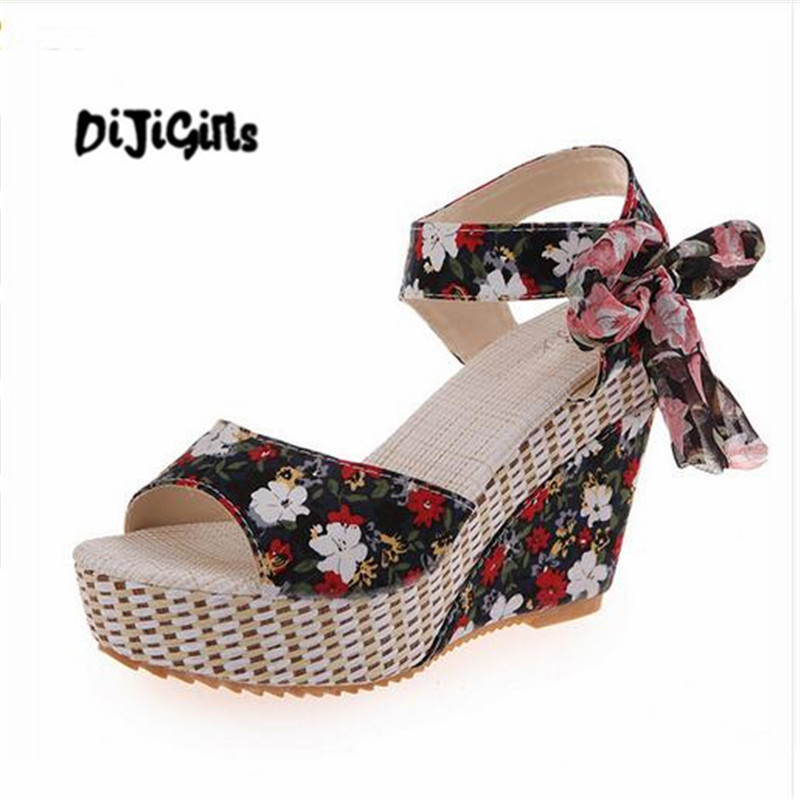 New Arrival Ladies Shoes Women Sandals Summer Open Toe Fish Head Fashion Platform High Heels Wedge Sandals Female Shoes Women цена