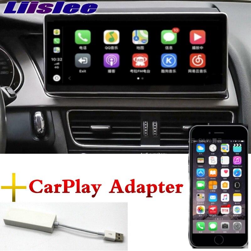 Liislee lecteur multimédia de voiture NAVI 10.25 pouces pour Audi A4 A4L B8 8 K 2009 ~ 2016 CarPlay adaptateur Radio stéréo GPS Navigation
