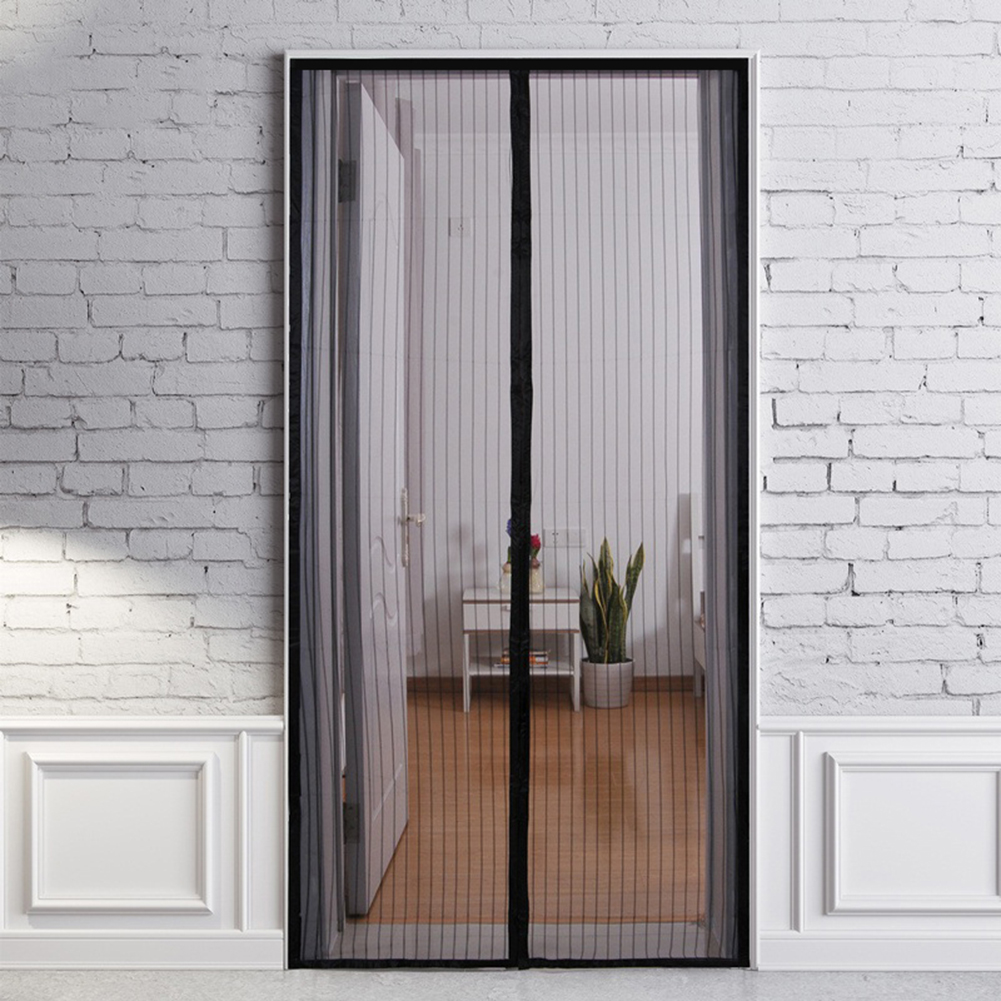 Summer Anti Mosquito&Fly Insect Bug Net Curtains  Mesh Screen Door Heavy Fabric Screen Full Frame Adhesive Wire Strip
