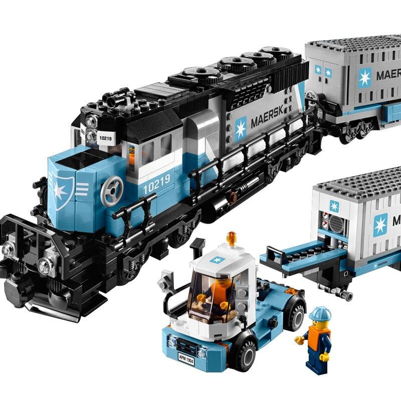 21006 1234 pièces série Technic Compatible avec 10219 Train de fret ensemble de blocs de construction éducatifs briques enfants jouets Train modèle