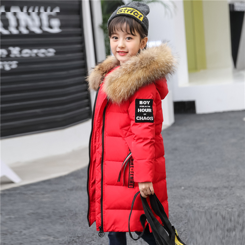Children's Down Jacket Girl's Long Thicken Winter Jacket for Girl Coat Girl Outdoor Warm Parkas Snowsuit casacos de inverno цены онлайн