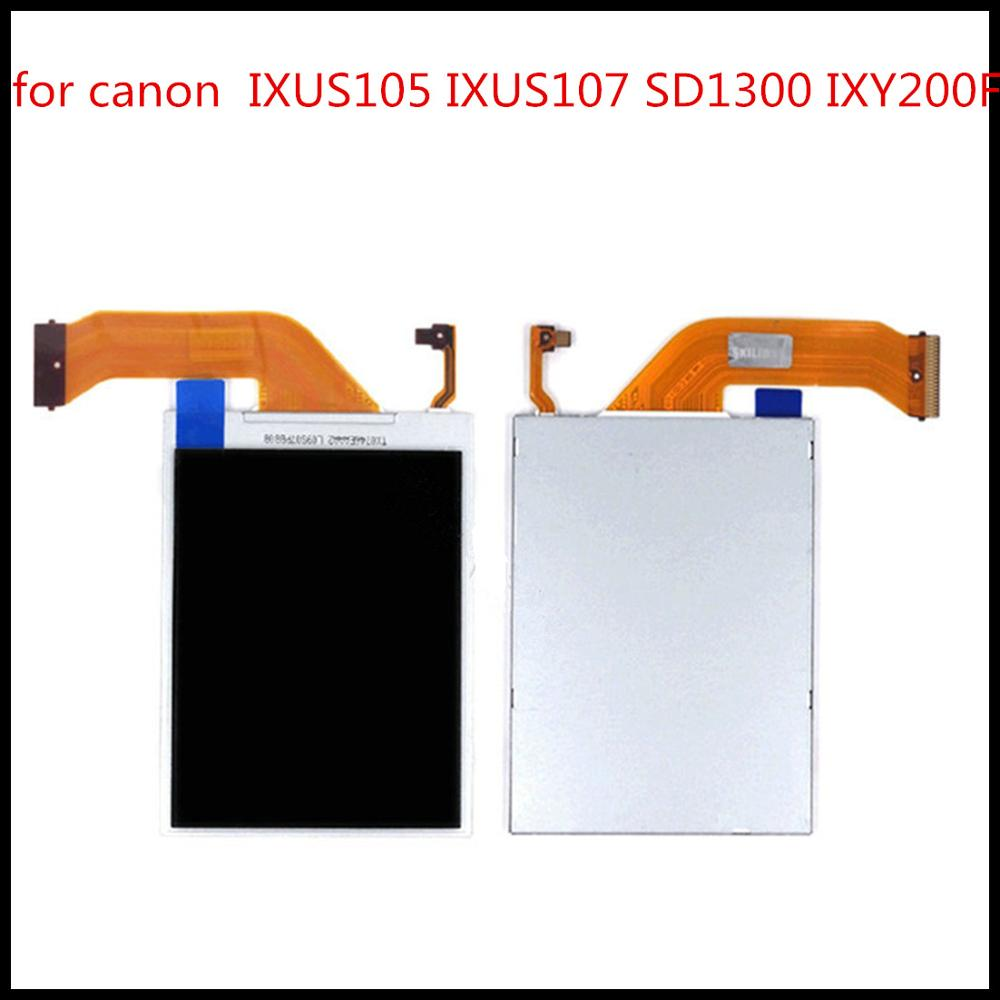 NNEW LCD Display Screen For CANON IXUS105 IXUS107 SD1300 IXY200F PC1469 Digital Camera Repair Part + Backlight
