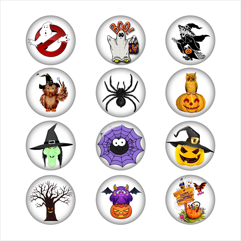 Halloween Spider witch glass snap button jewelry photo