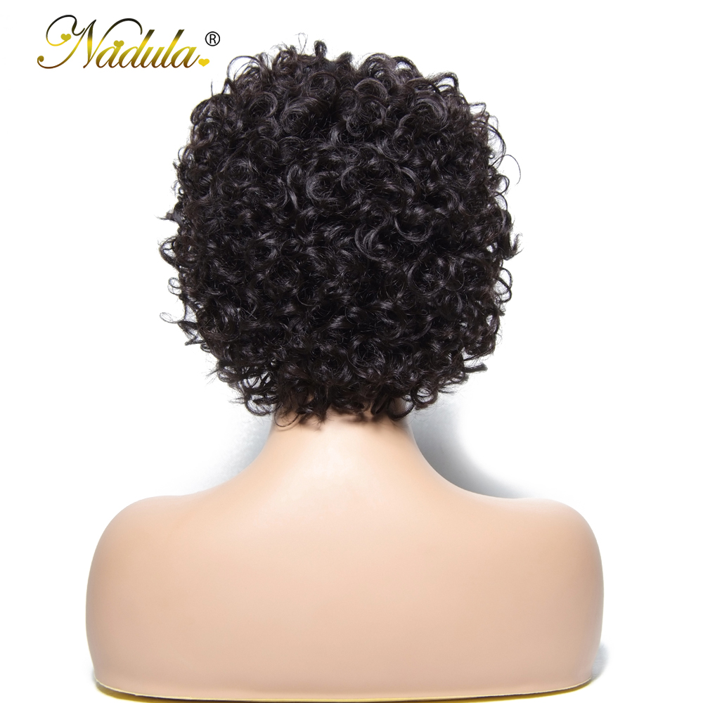 Nadula Hair Short Lace  Wigs  Deep Wave  Wigs   Hair Wigs #1 #2 #4 Natural Color 4