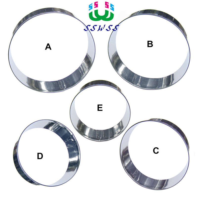 Five Wheels 6,7,8,9,10 CM Circular Cake Decorating Fondant Cutters Tools,Mousse Cake Cookie Biscuit Baking Molds,Direct Selling