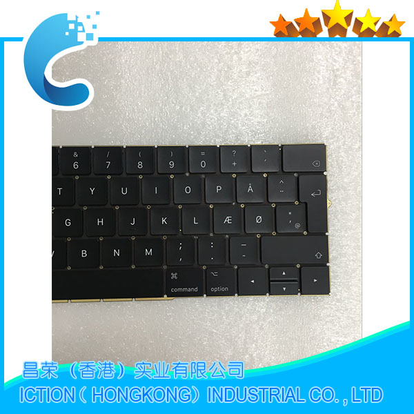 Original New A1706 Keyboard DK Danish for Apple Macbook 13.3 A1706 DK Danish Keyboard Late 2016 Mid 2017 Year dk 03 halo r