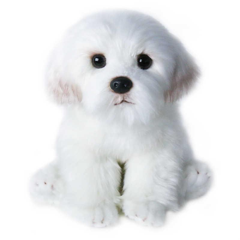 24cm Cute Small White Bichon Frise Stuffed Dog Plush Toy Simulation Pet Fluffy Baby Doll Birthday Children Gift Buy Dropshipping