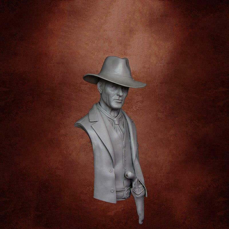 1/10 Modern Man In Black  Bust    Resin Figure Model Kits Miniature Gk Unassembly Unpainted