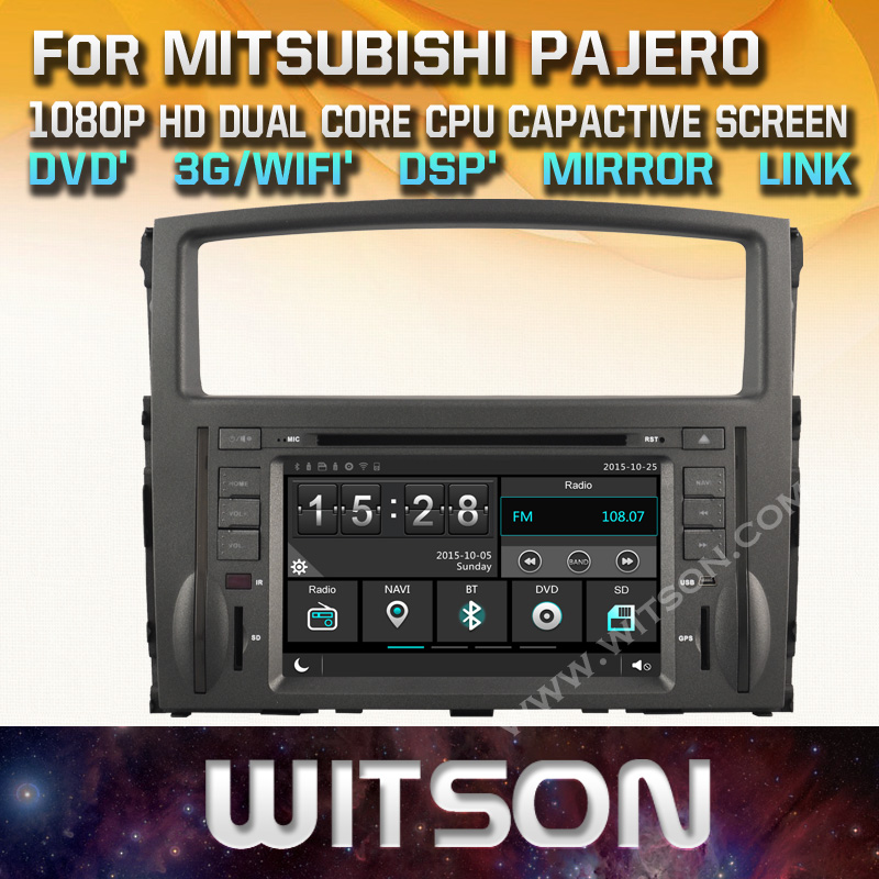 WITSON CAR DVD GPS For MITSUBISHI PAJERO car audio gps with Capctive Screen 1080P DSP WiFi