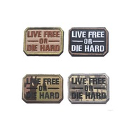 3D Embroidery armband Loop And Hook live free or die hard armband Tactical badge Embroidery magic armband Package stickers