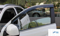 New For Mitsubishi ASX 2011 2014 Window Visors Awnings Wind Rain Deflector Visor Guard Vent