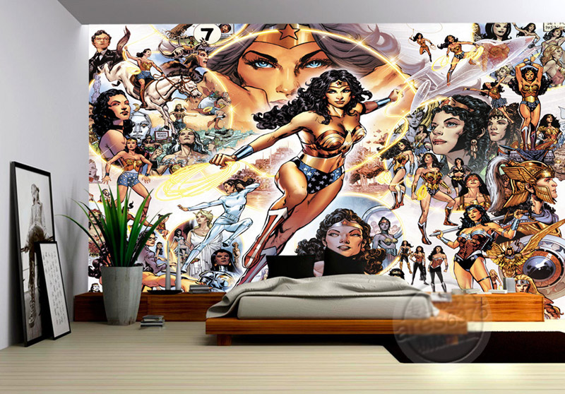 Aliexpress.com : Buy Wonder Woman Wall Mural Justice League Wallpaper Marvel  Comics Photo Wallpaper Custom 3D Wallpaper Kids Bedroom Study Livingroom  From ... Part 53