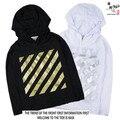 2016 de Desconto Homens Jaqueta Branca 1:1 de Alta Qualidade Outwear Off White Abloh Virgil Treinadores Jaqueta Corta-vento Jaqueta À Prova de Vento Off White