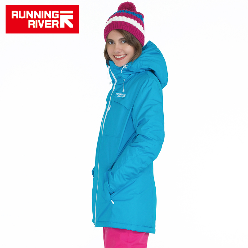 RUNNING RIVER Brand Winter Snowboarding Jacket For Women 4 Colors 4 Sizes High Quality Woman Sports Outdoor Jackets #A5010 running river brand winter thermal women ski down jacket 5 colors 5 sizes high quality warm woman outdoor sports jackets a6012