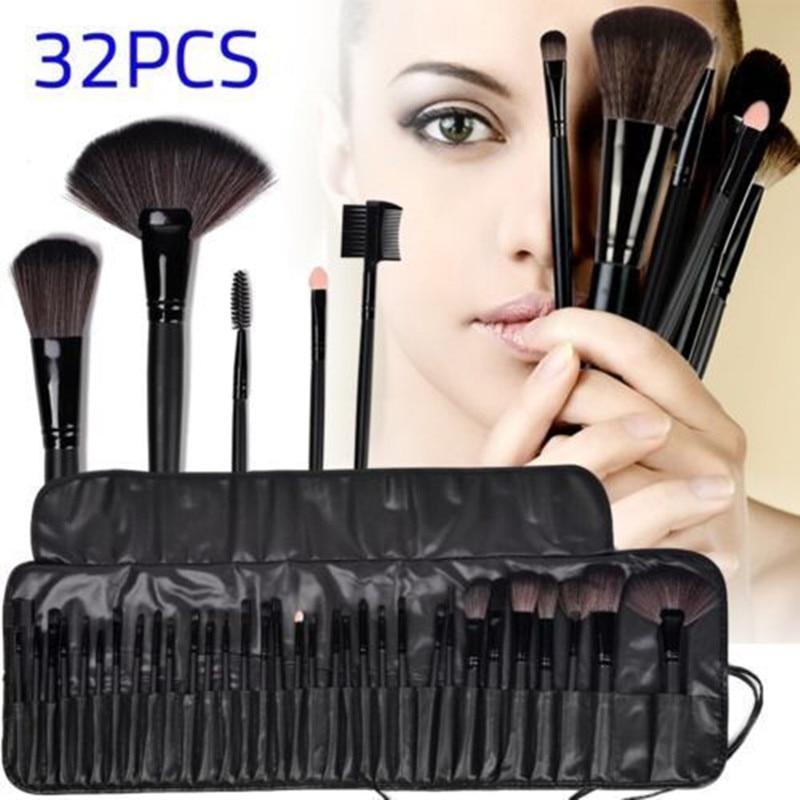 Woman s Professional 32 Pcs Make Up Tools Pincel Maquiagem Superior Soft Cosmetic  Beauty Makeup Brushes Set 54ab44601b