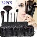 Женщины Профессиональный 32 Шт. наборы для Макияжа Pincel Maquiagem Superior мягкий Косметические Красоты Макияж Кисти Набор Kit + Мешочек Сумка случае