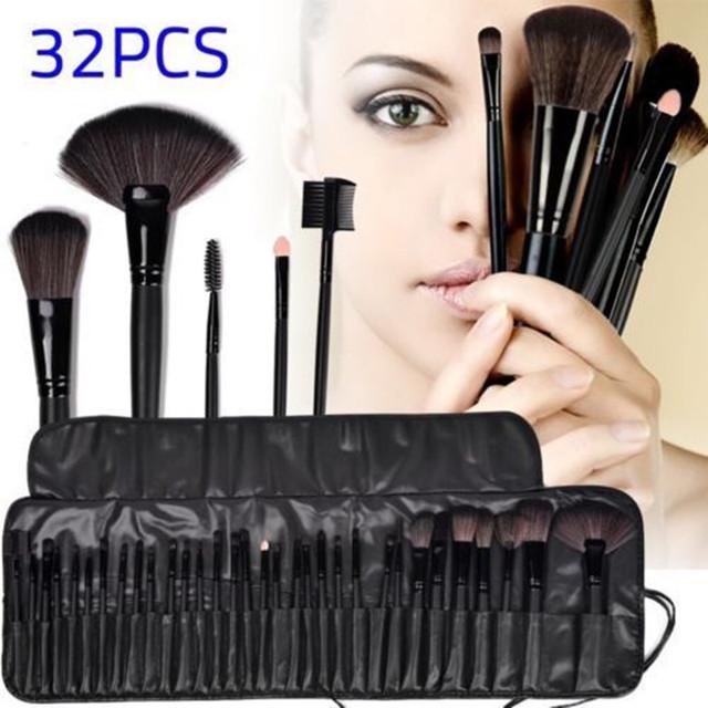 De la mujer 32 Unids Maquillaje Herramientas Pincel Maquiagem Profesional Superior suave Cosmética Maquillaje Pinceles Set Kit + Bolsa Bolsa caso