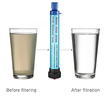 SKL Portable Water Filter Personal Mini Water Filtration System 2000L 0.01 Micron Removes Bacteria Outdoor Hiking Camping Travel portable small water filter