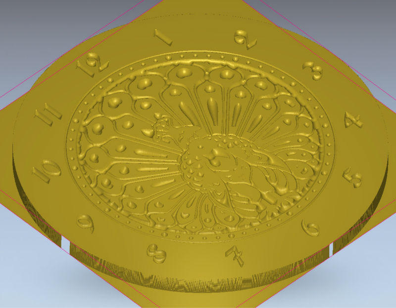 3d model New Wall Clock World_5 for cnc in STL and dxf file