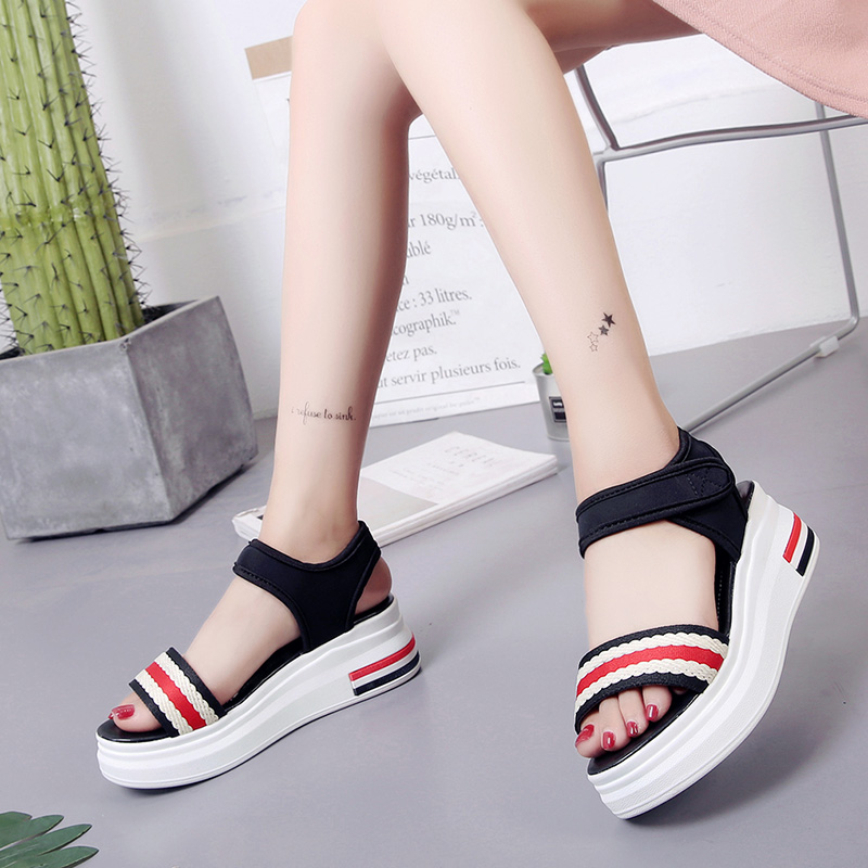 Kjstyrka 2018 Fashion Women Shoes sandalia feminina Summer Sandals flats thick bott Damping shoes Gladiator Sandalias