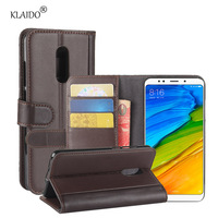 KLAIDO Genuine Cow Leather Mobile Phone Case For Xiaomi Redmi 5 Plus Phone Case For Redmi