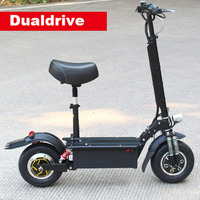 1700W Dualdrive Electric Scooter Powerful Off Road Skateboard Adult Scooter Electric Hoover 11inch Dualdrive Big Adult Scooter