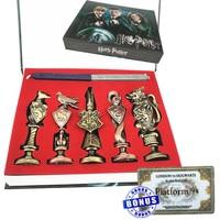 Action Harri Potter Solid Metallic Seal Set with Hogwarts Seal Wax Cos Party Supplies with Bonus Hogwarts Ticket Harri Potter