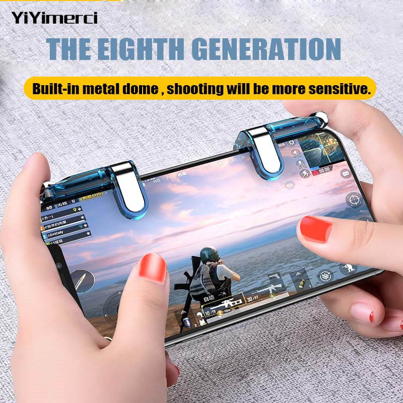 Smart phone gamepad free fire pubg mobile game controller handle for L1 R1 PUBG mobile controller iphone gaming shooter button-in Gamepads from Consumer Electronics