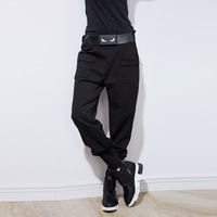 Europe Station 2016 Autumn And Winter European Trend Personality Belt Decoration Fashion Leisure Baggy Harem Trousers