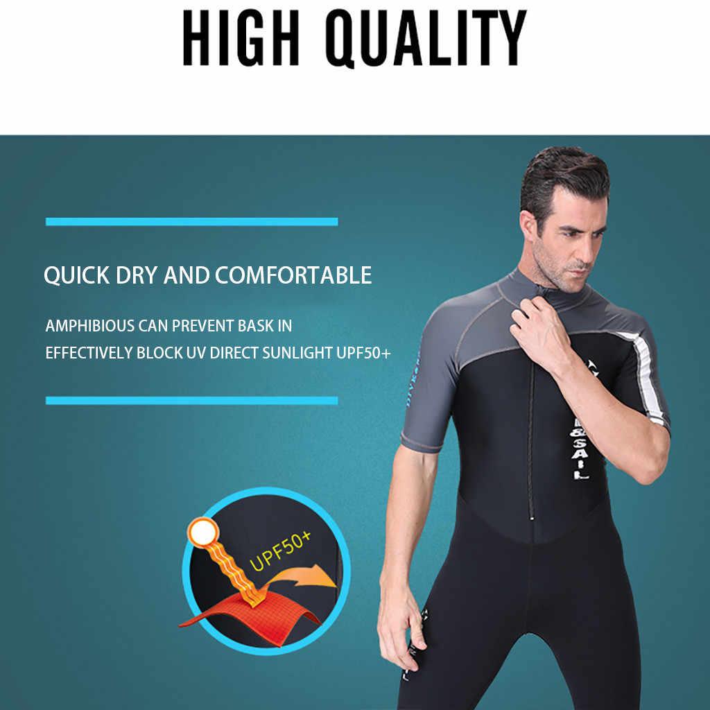 2019 nowy gorący wodoodporny elastyczny neoprenu męskie zamek błyskawiczny na plecach Shorty kombinezon do nurkowania kombinezon do nurkowania wysypka Guard maja.