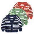 The spring and Autumn period for a new baby sweater 2017 Korean boy in the Striped Blazer children cardigan sweater
