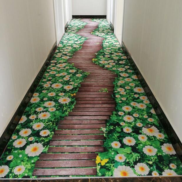 3D Creative Door Mat Plant Carpet Printing Hallway Carpets Bedroom Living Room Tea Table Rugs Kitchen Bathroom Antiskid Mats