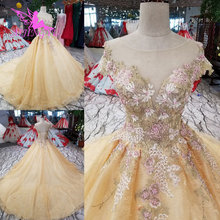 AIJINGYU Lace Long Sleeve Bridal Gown Wedding Dresses