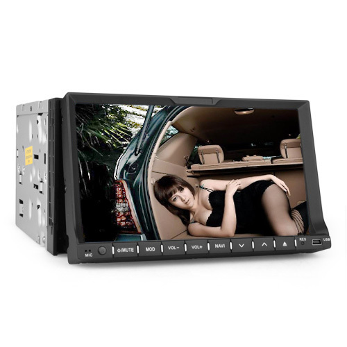 7 inch 2 Din sliding down touch screen with bluetooth, SD, Radio, special UI for universal