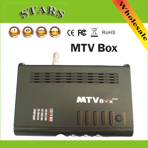 Digital MTV LCD Box Computer To VGA S-Video Analog TV Program Receiver Tuner LCD Monitor PAL NTSC For DVD/PDP/PS2,Dropshipping